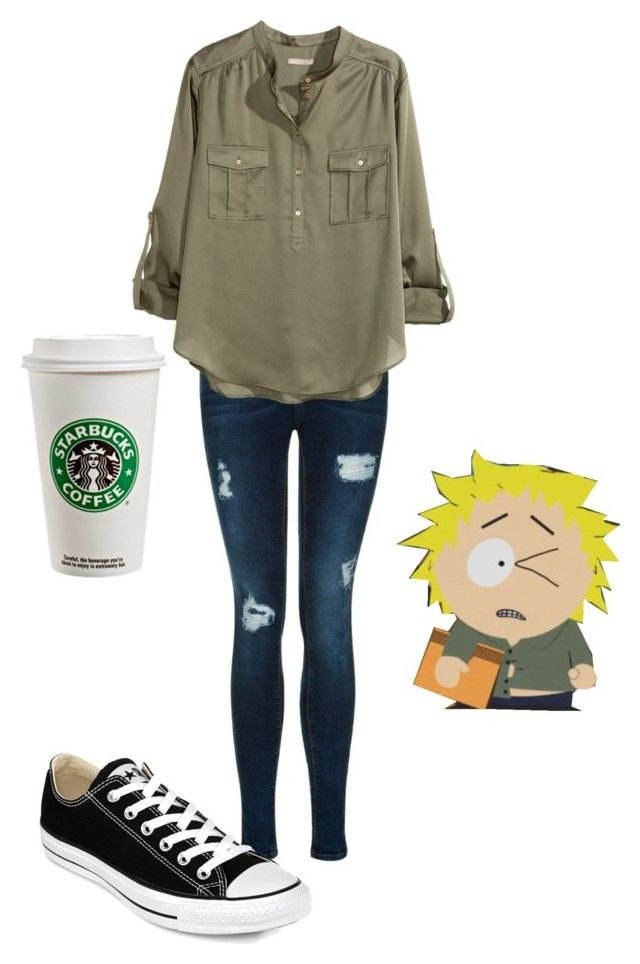 """Tweek Tweak from South Park ❤️"" by xoxbebexox ❤ liked on Polyvore featuring H&M and Converse"