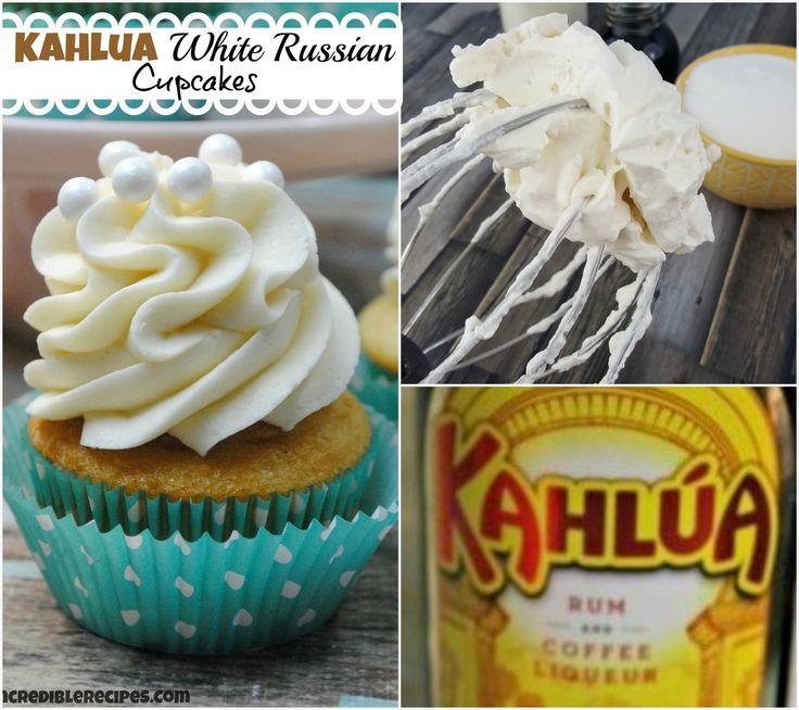 Kahlua White Russian Cupcakes!