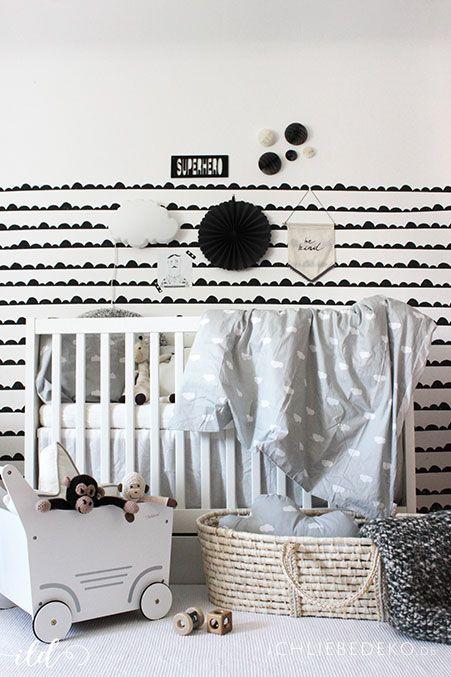 Fresh Babyzimmer im monochromen Look