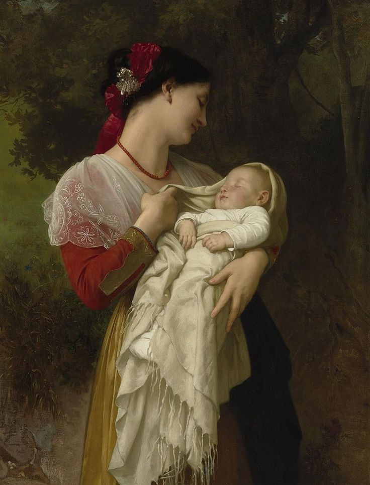 William Adolphe Bouguereau (1825-1905) Maternal Admiration (1869)