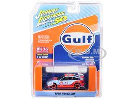 """1990 Honda CRX # 14 """"Gulf Oil"""" """"Johnny Lightning 50th Anniversary"""" Limitierte Auflage auf 3.600 Stück Weltweit 1/64 Diecast Model Car von Johnny Lightning   – 1/64 diecast"""