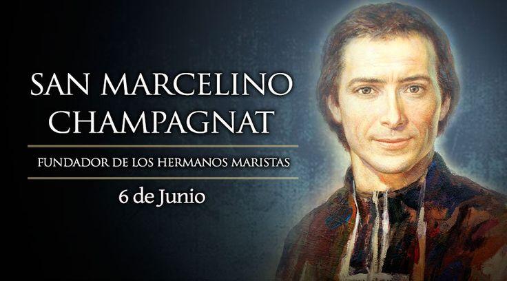 Marcelino Champagnat, sacerdote francés que fundó la congregación de los Hermanos Maristas. Nació el año...