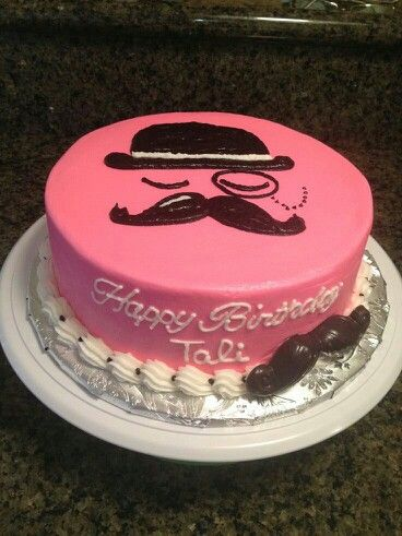 Mustache cake - For Richard's Work Movember party?
