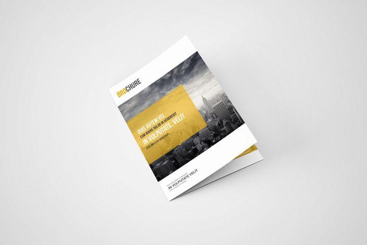 A5 Bi Fold Brochure Mockup 77642 Branding Design Bundles Bi Fold Brochure Brochures Mockups Brochure