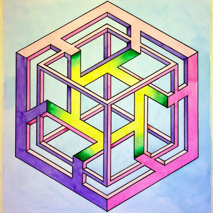 569 best images about geometry on pinterest for Geometric illusion art