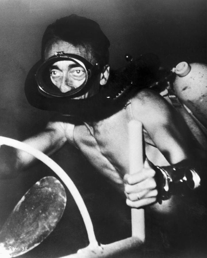 Jacques Cousteau, 1954.  This man is the reason I'm so fasinated by the seas and their creatures.