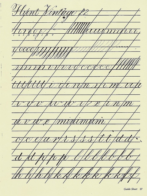 Copperplate Practice Sheet 1 By Carmelscribe Via Flickr