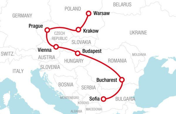 Go East Route - Rail Europe - Rail travel planner Europe ...