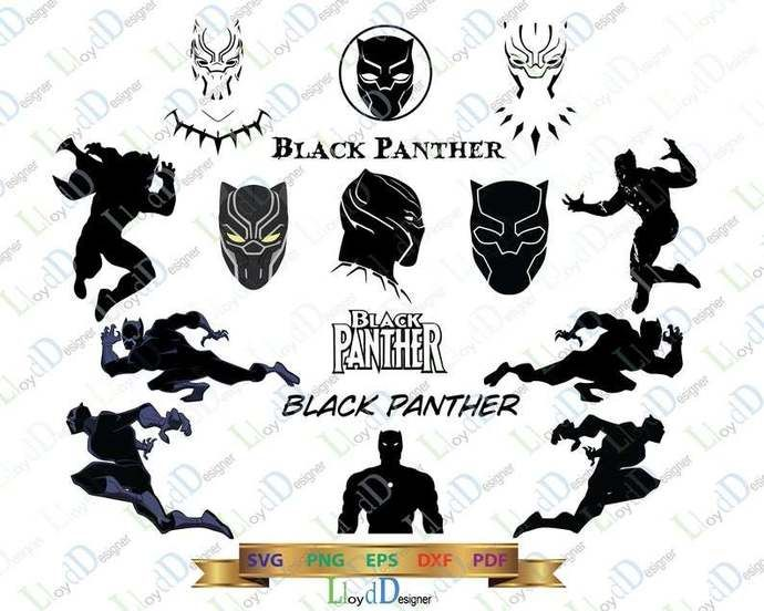 Marvel Black Panther Svg Black Panther Helmet Mask Sign Clipart Silhouette Birthday Shirt Black Panther Party Svg Eps Dxf Png Files By Lloyd Shop 1 99 Usd