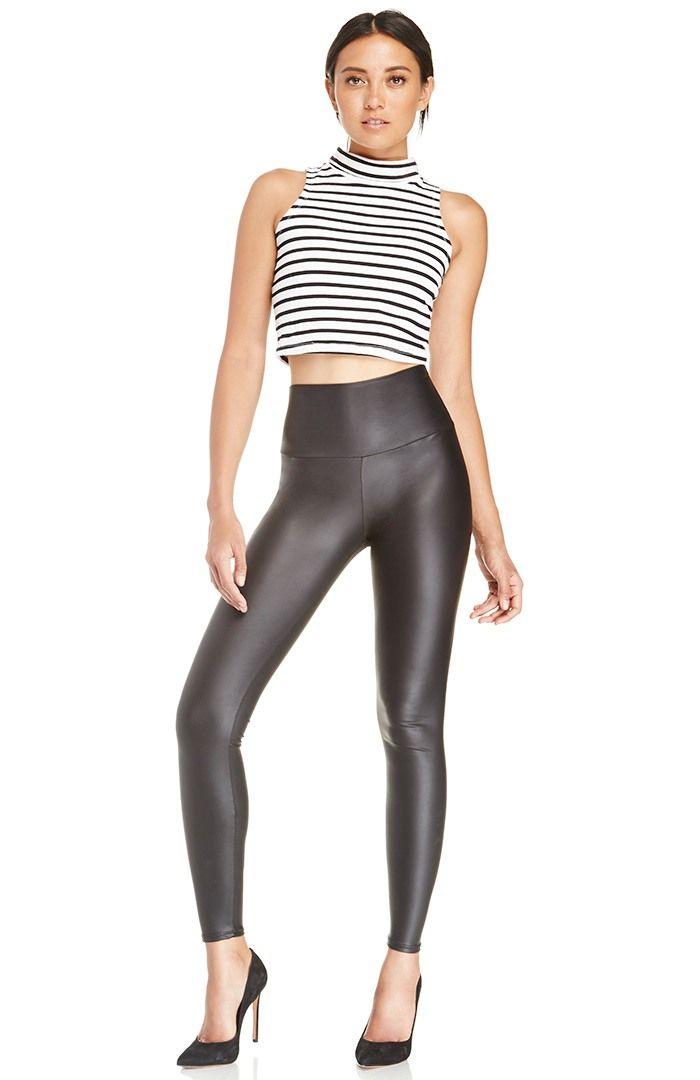 High Waist Vegan Leather Leggings #clicktoget #giftsforher