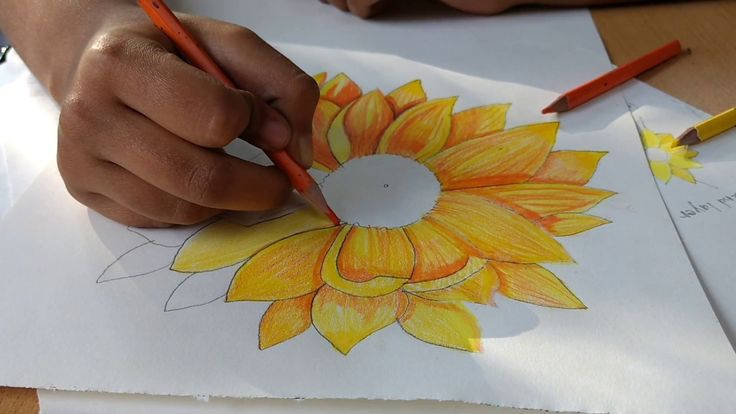 Shading of a flower- Art Lesson, Studio Olive