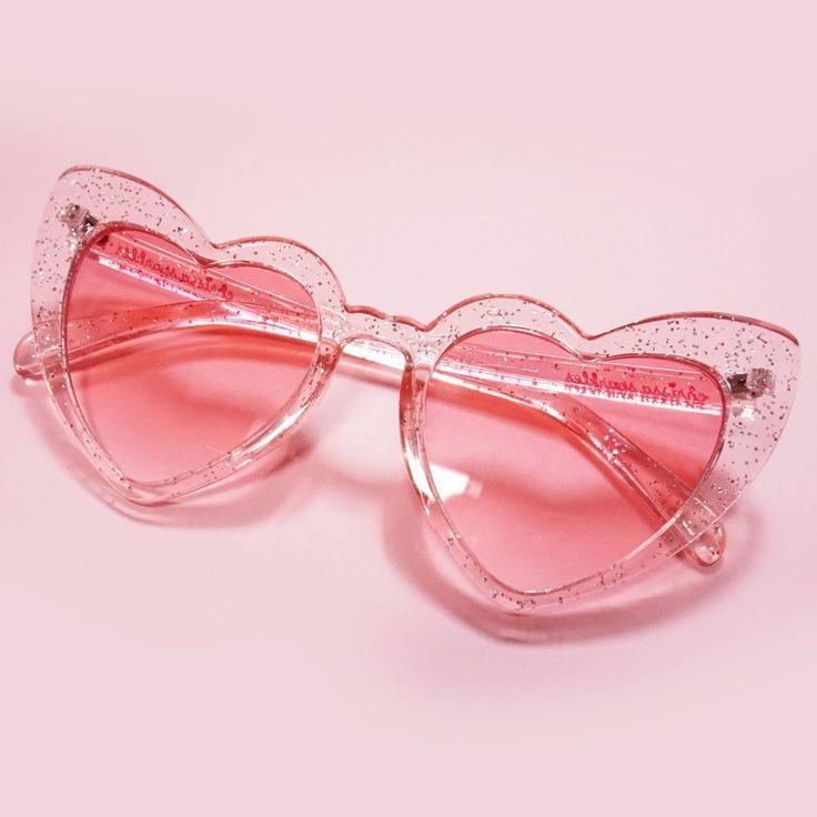 Glitter Cat Eye Heart Sunglasses – #Cat #Eye #Glit…