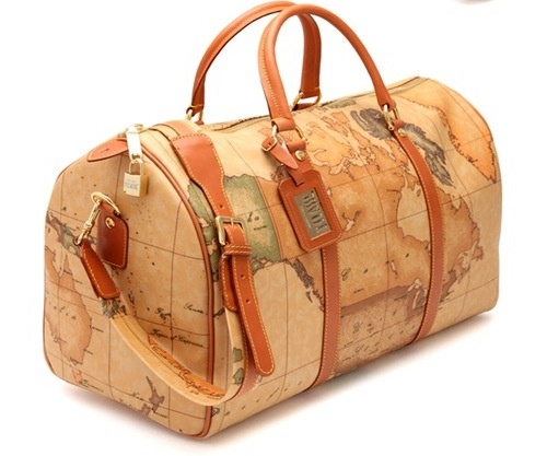 Alviero Martini's World Map Bags. So much class.