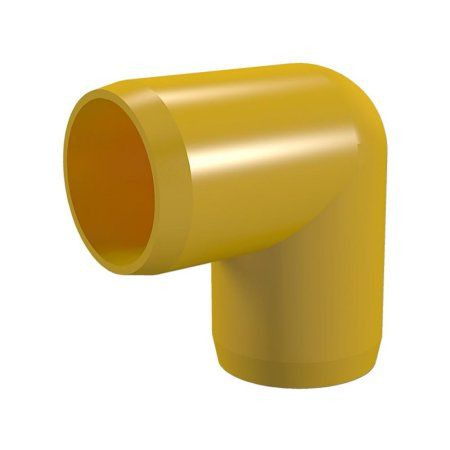 PVC Pipeworks 1-1/4 inch Ell PVC Furniture Grade Fitting in Yellow - 90 Degree (4-Pack)
