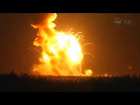 Orbital Sciences Antares Explosion at Wallops Vidio