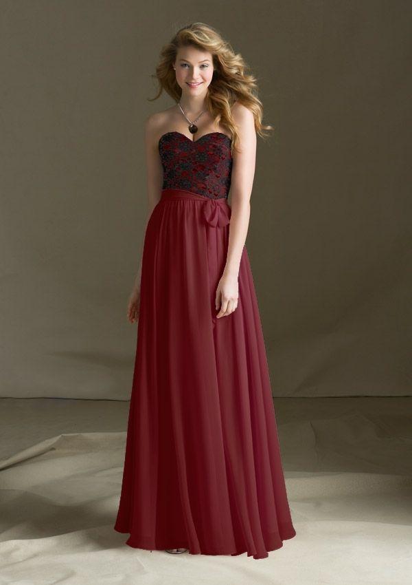 682 Bridesmaids Dresses 682 Lace and Chiffon with Matching Chiffon Tie Sash