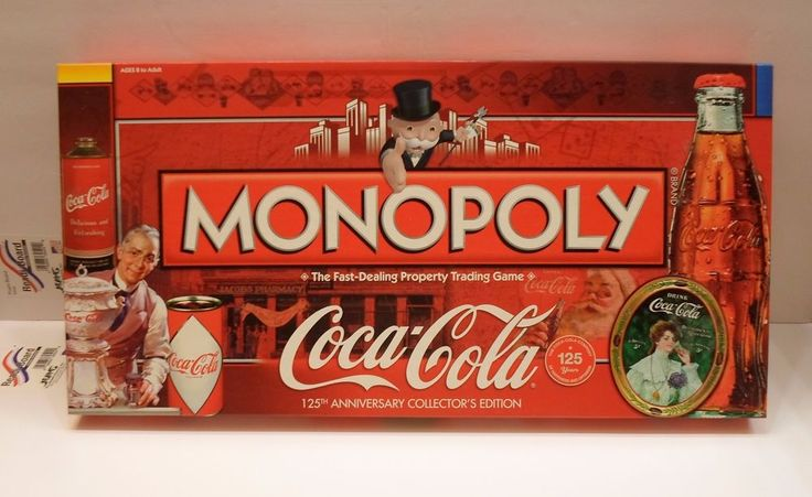 Coca-Cola Coke 125th Anniversary Monopoly Game -- NIB -- RARE #Hasbro