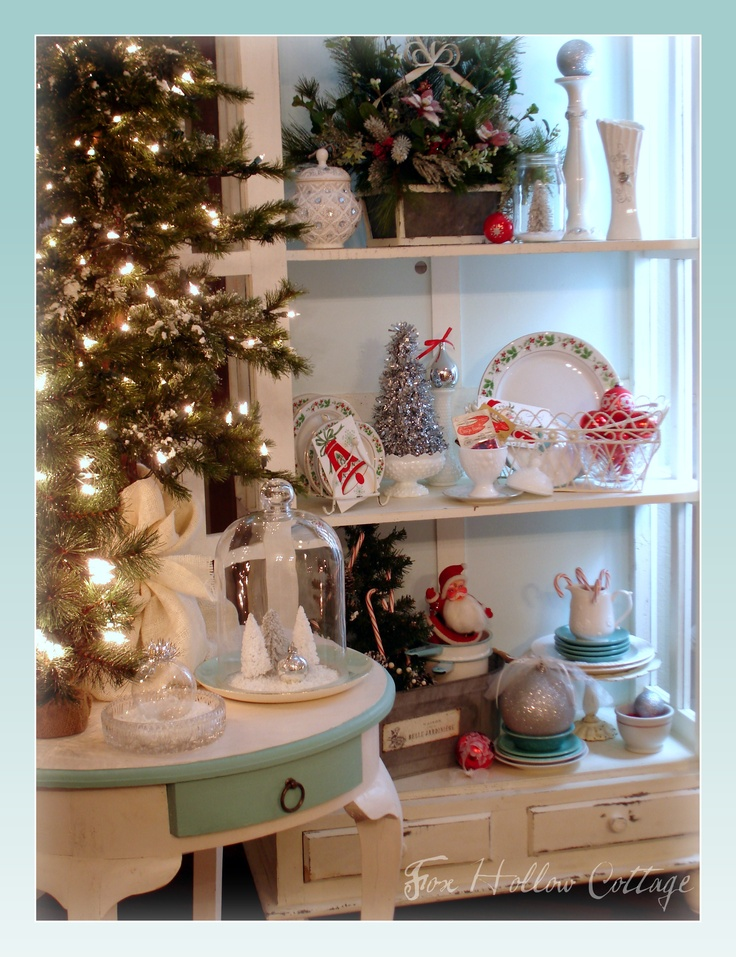 Christmas 2011 #Christmas #Vintage #Aqua #Santa #Tree #Decor