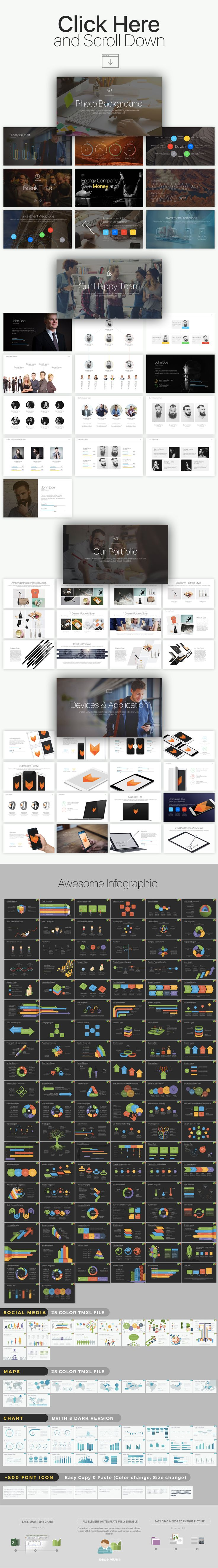 X Keynote Presentation by batzorig.regzen on Creative Market