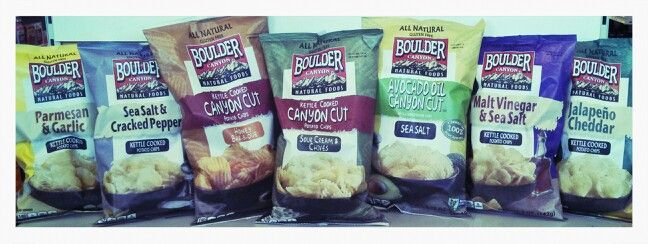 Boulder Canyon Natural Foods brings to you all natural kettle cooked potato chips with unsurpassed quality and taste. Their thickly sliced premium potatoes are slow cooked in small kettles using sunflower and/or safflower oil.  They then add their distinctive flavors. Experienced craftsmen test the potatoes at every stage to ensure you get the finest chip around.  What To Expect: -All Natural Ingredients -Zero Trans Fat -Zero Cholesterol -Gluten Free (Where Indicated) -Great Taste