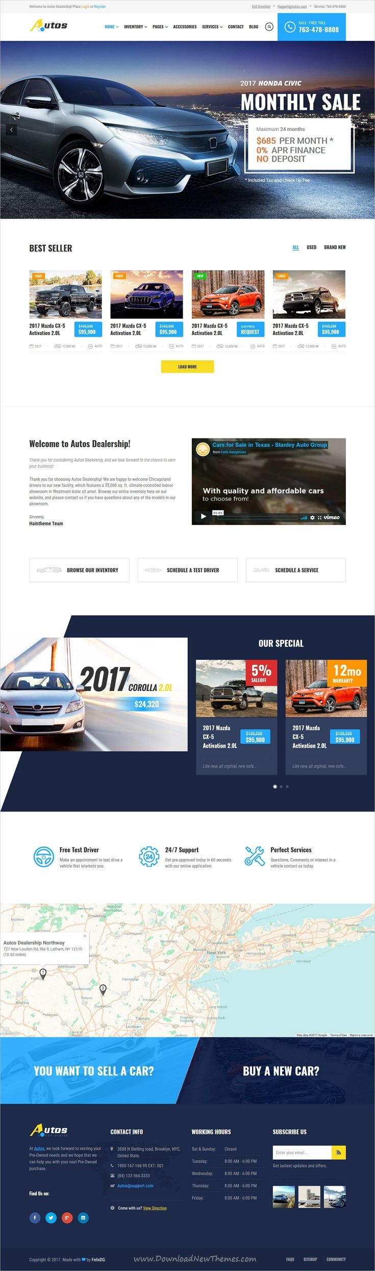 Autos is clean and modern design responsive #bootstrap template for #automotive and #car dealers website with 6 unique homepage layouts download now