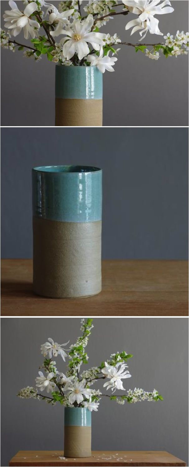 The beauty of nature fits just perfectly in this gorgeous clay vase | Made on Hatch.co by independent makers & designers