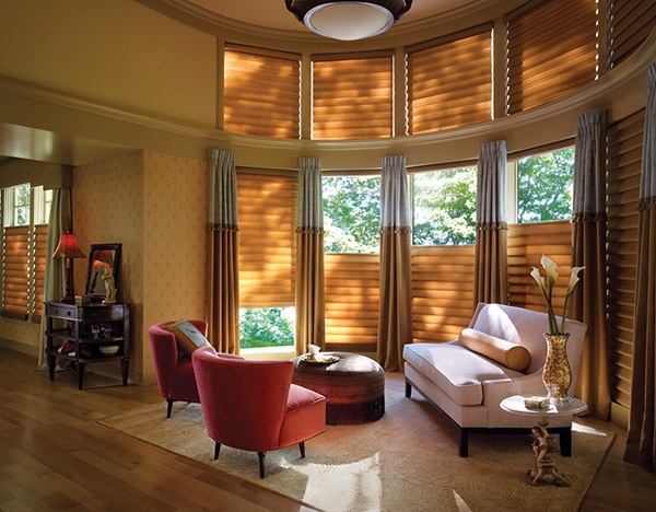 The Luxurious Fabrics And Soft Folds Of Vignette® Modern Roman Shades In  This Living Room Part 97