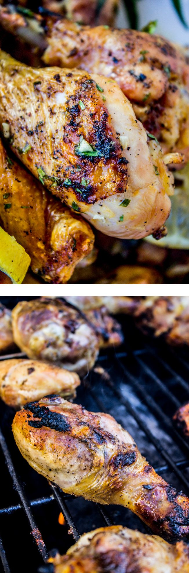 Lemon Tarragon Grilled Chicken from The Food Charlatan. Easy and fast grilled chicken is the way to go! Try this recipe that's jazzed up with lemon and tarragon, it's sooooo good.