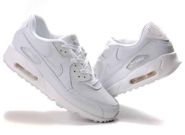 Discount Nike Air Max 90 Women Running Shoes Summit White