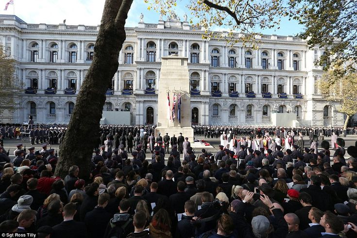 11/13/16*Elizabeth II was joined by Prime Minister Theresa May for the annual Remembrance Sunday service in central London in memory of those killed in past and present conflicts.