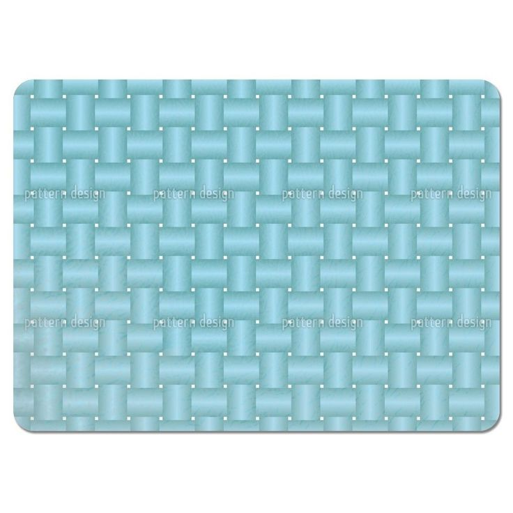 Uneekee Intertwined Blue Placemats (Set of 4) (Intertwined Blue Placemat) (Polyester, Geometric)