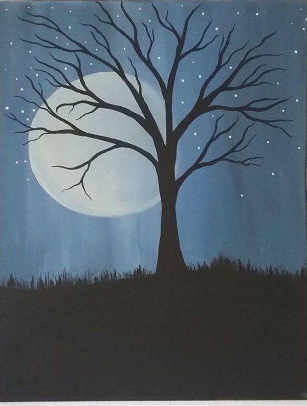 Easy Tree Painting Ideas Tree Painting Canvas Tree Painting