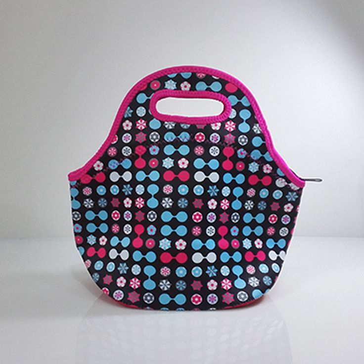 fashion neoprene thermal insulated portable lunch bag women kids baby casual bags box tote waterproof food container ALB394G