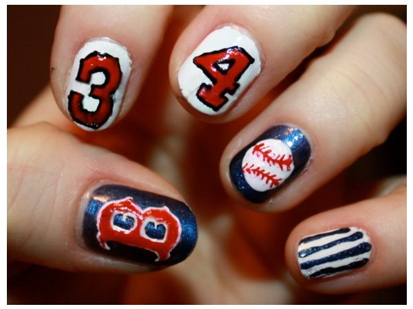 Top 10 amazing sporty baseball nail art designs for 2018 - fashonails - Best 25+ Baseball Nail Designs Ideas On Pinterest Softball Nails
