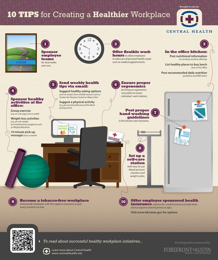 Infographic: 10 Tips for Creating a Healthier Workplace « Healthcare Intelligence Network
