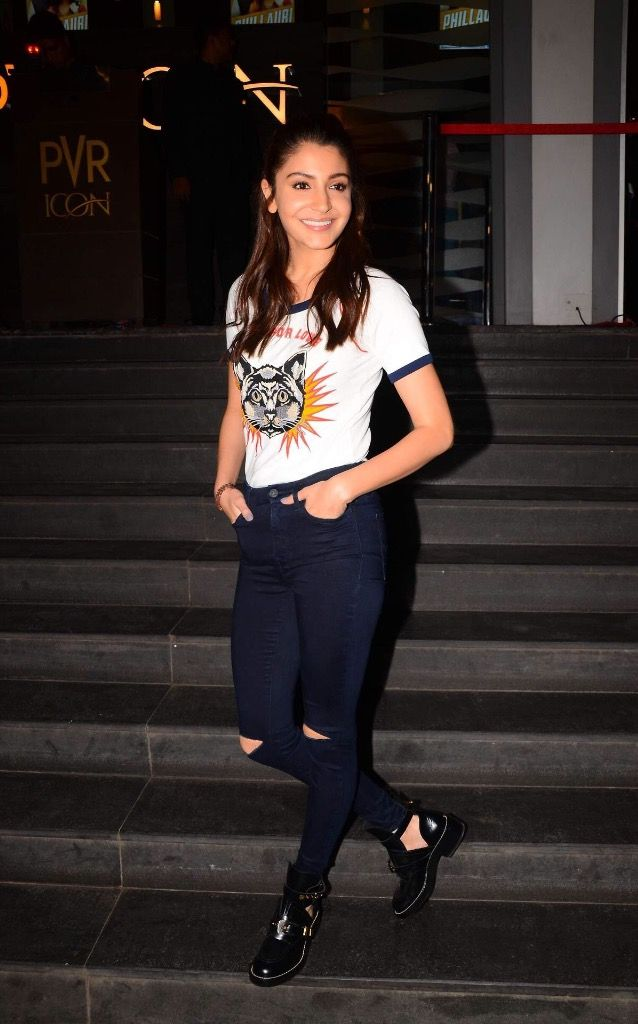 "Anushka Sharma At Film ""Phillauri"" Special Screening In Mumbai."