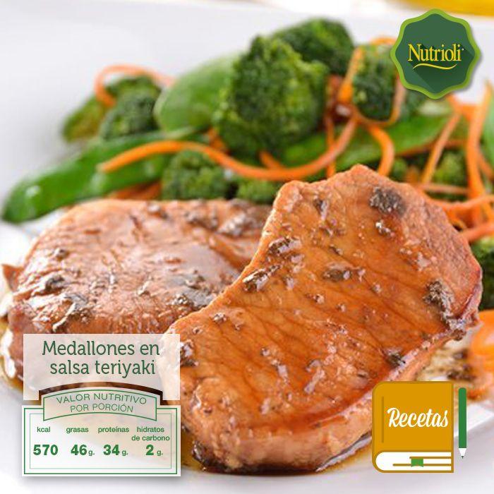 ¡Prepara unos deliciosos medallones de cerdo en salsa teriyaki!   La carne de cerdo es fuente de proteínas, ácidos grasos y vitaminas del complejo B. Descarga la receta aquí: https://www.nutrioli.com/es/r/recipes/receta/medallones-en-salsa-teriyaki/ y ¡compártela!