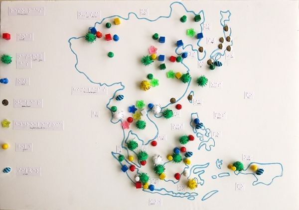 This project was commissioned to me by Global Paradigm School; The maps equivalent to the colour coded ones in the class' geography textbook, translated here into tactile features for a blind student.East & Southeast Asia; Physical, Climate, Population,…
