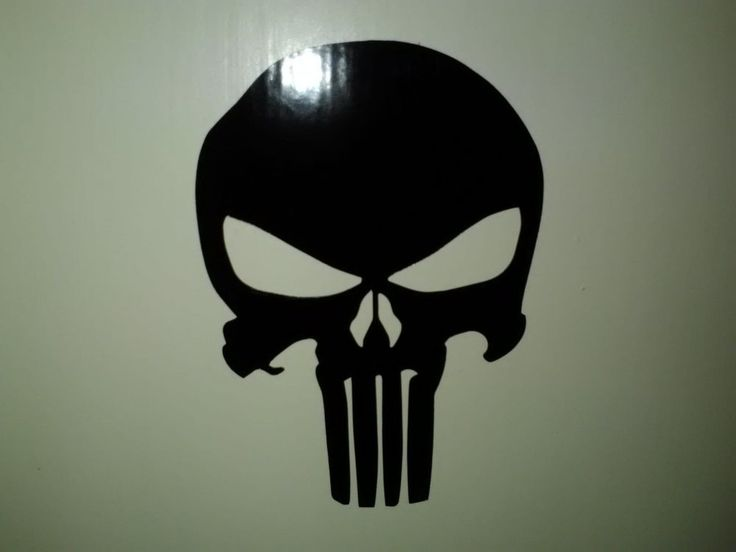 Punisher symbol decal sticker for wall, car, laptop, etc #Unbranded