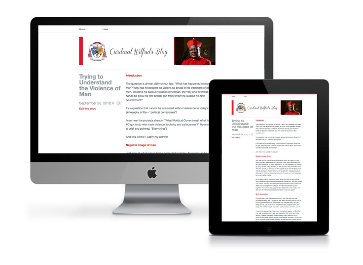We are so thrilled to have designed and implemented a blog for Cardinal Wilfrid Napier