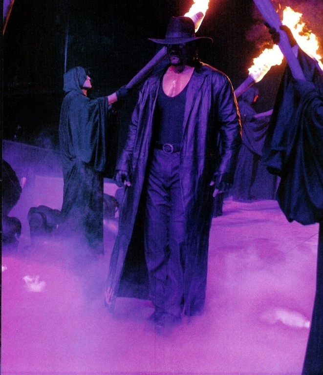 Undertaker (WWE Wrestler) Can't have a Halloween party without him. He's the opitomy of sccarrry.