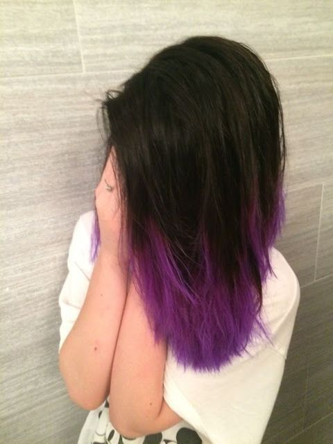 Gorgeous Dip Dye Hair Purple Hairstyles