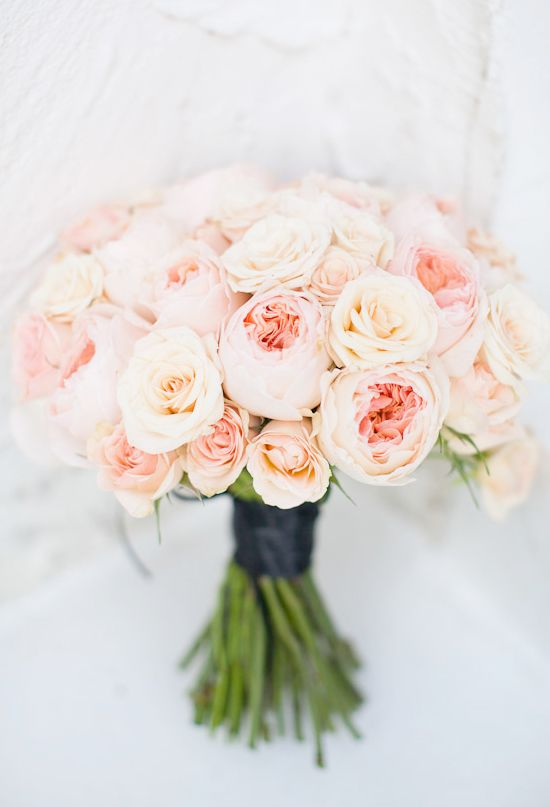 light pink and peach bouquet