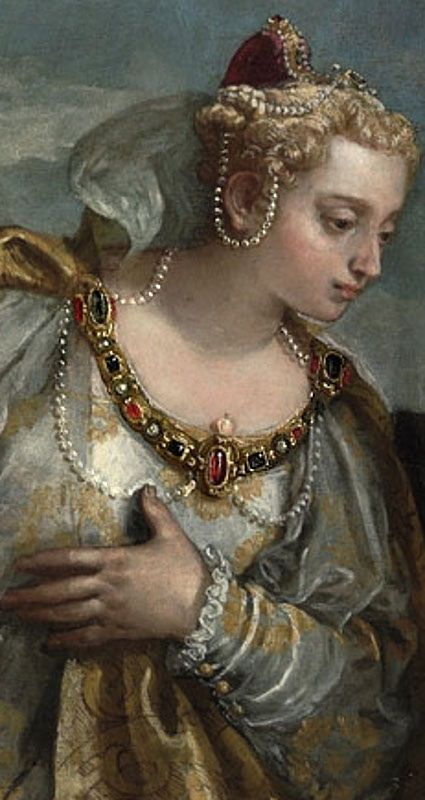 Paolo Veronese - Allegory of the City of Venice adoring the Madonna and Child, detail