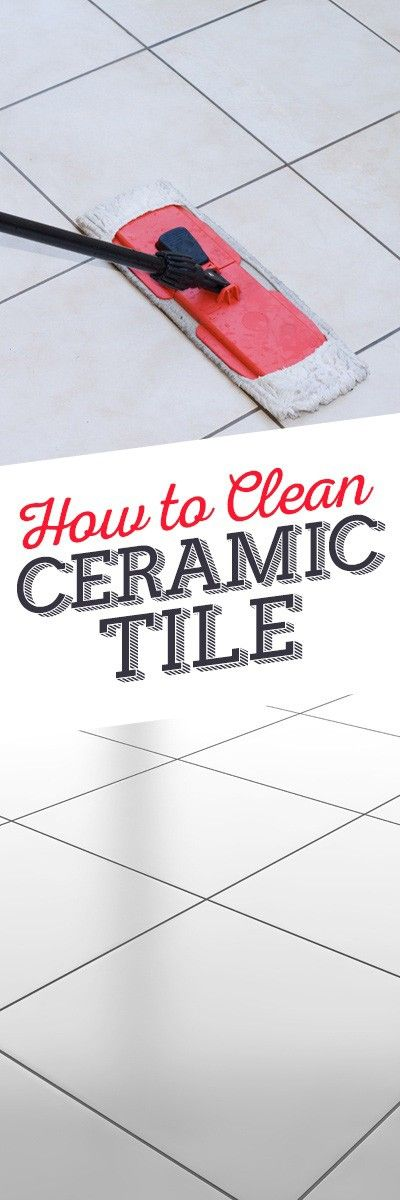 Need help cleaning ceramic tile? Check out this tip from Simple Green.