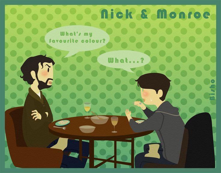 Grimm - Nick + Monroe - Dinner by ~Bisho-s on deviantART
