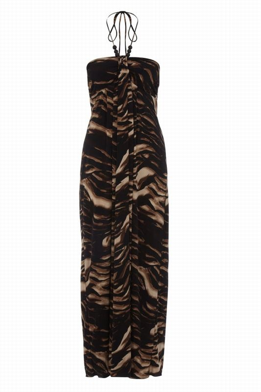 Valerie Bertinelli black and brown print maxi dress  RRP: £14.00  Available from TjMAXX