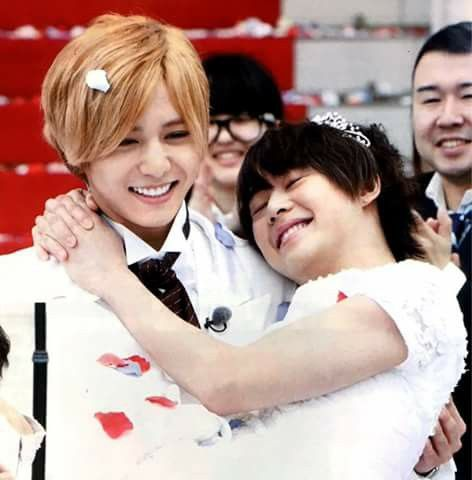 Yamada Ryosuke & Arioka Daiki as Daiko Hey! Say! JUMP