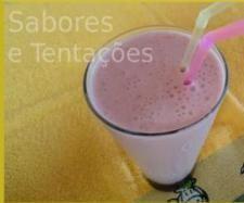 Receita Batido de morango e banana por Sabores e Tentações - Categoria da receita Bebidas