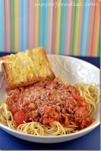 Crockpot Turkey Spaghetti Sauce